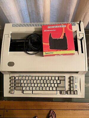 Ibm Wheelwriter 2 Lexmark Typewriter Type Writer Vtg. Works Great W Ribbon