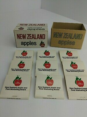 Rare!!! New Zealand Apples Match Books Set of 9 with Box all New! (1C2)