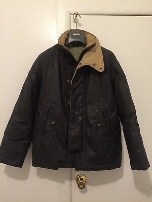 DIESEL REAL DOWN JACKET PARKA WINTER PROTECTOR DARK BROWN US MEN SMALL BEST VALU