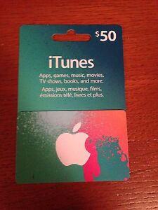 $50 iTunes gift card.
