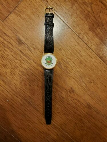 Vintage 1987 Jim Henson MUPPETS Kermit the Frog Watch. Perfect.  Free shipping!