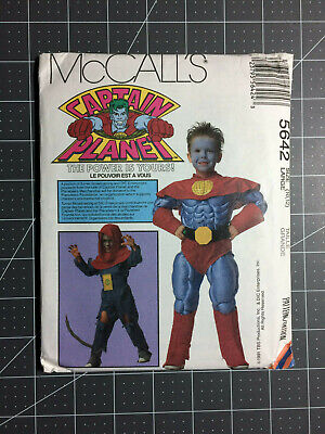 McCall's #5642 ~ Pattern Captain Planet ~ Child Large 10 & 12 ~ FF / - Captain Planet Costume