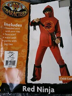 Rubies costume Red Ninja Child Size Small 4-6 for 3-4 years old](Costume For 3 Year Old Boy)