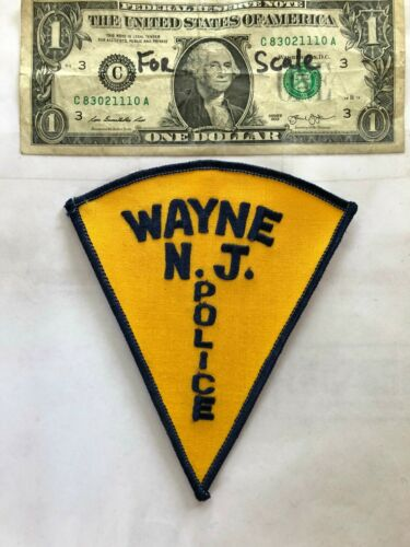 Wayne New Jersey Police Patch un-sewn in Great Shape