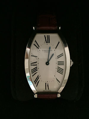 AUTH Cartier Tonneau LG Platinum Privee watch #0001 w/ 2 boxes papers $27K