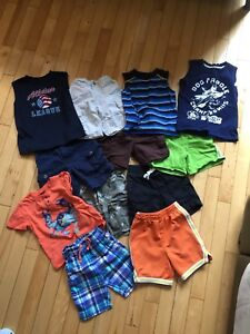Boys size 2/3 shorts and a few summer shirts