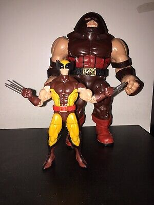 MARVEL LEGENDS HASBRO WOLVERINE BROWN/TAN OUTFIT & JUGGERNAUT BAF COMPLETE LOT!