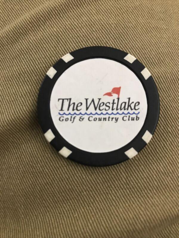 Vintage Rare Westlake Country Club Golf Putting Chip- Westlake, Ohio RAAAB1-92