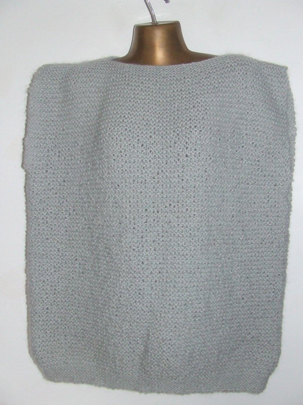 Superbe pull  épais  tricoté main phildar laine mohair  taille  44 parfait état