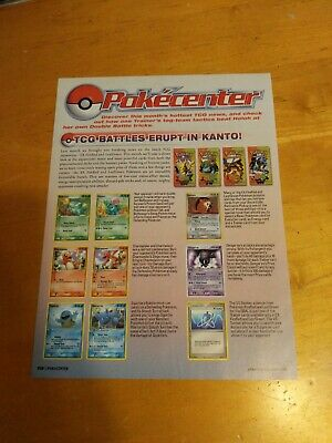 Pokémon EX Fire Red And Leaf Green Nintendo Power Advertisement