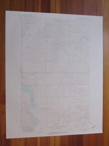 Lunds Valley North Dakota 1978 Original Vintage USGS Topo Map
