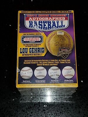 Autographed Baseball Box - TRISTAR Hidden Treasures Autographed Baseball - Purple Box - BRAND NEW & SEALED