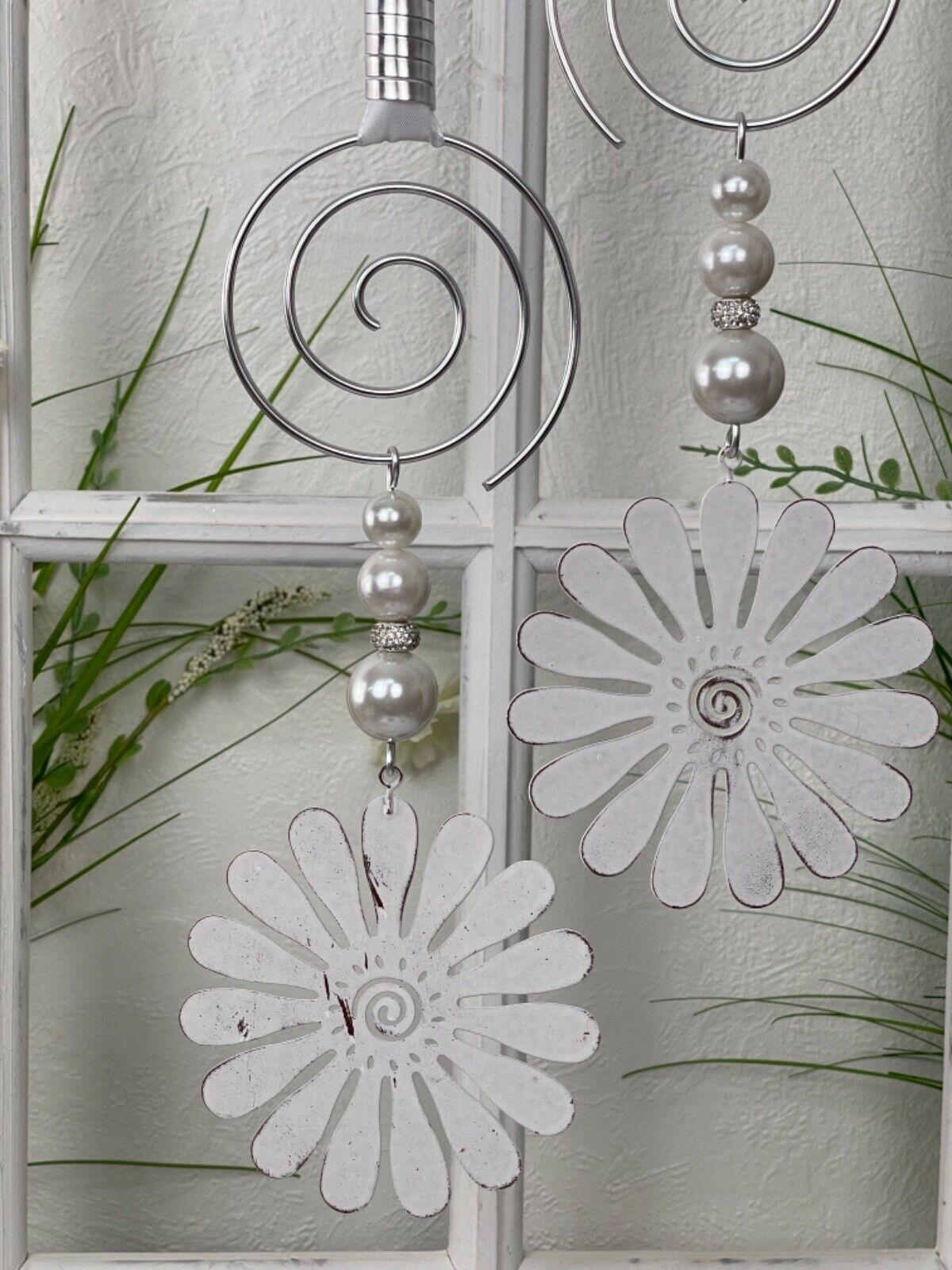 🌹 Fensterdeko, Hänger, Metall Blumen,11cm, Fensterdekoration, Dekohänger, Deko