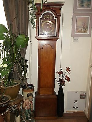 Handmade Long Case Grandfather Clock  ''Schmeckenbecher'' with Striking Movement