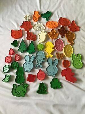 Lot of 40 Vintage 1970's Cookie Cutters Halloween Christmas Hallmark Disney