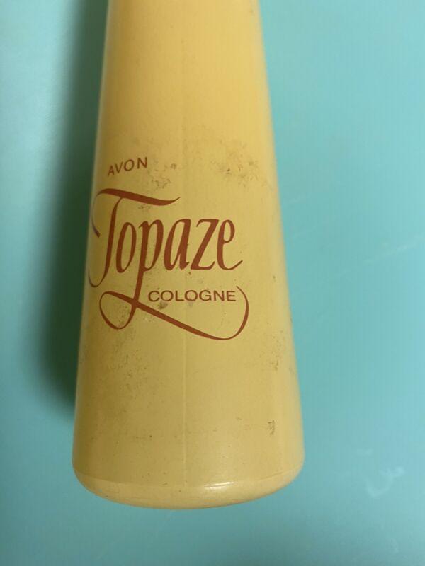 VINTAGE Avon TOPAZE Cologne Mist with  Lil Bit Yellow Jewel Top No Box