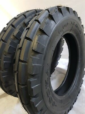 6.00x16 6.00-16 Tires Tubes 8ply Road Warrior Knk-33 4-rib Farm Tractor