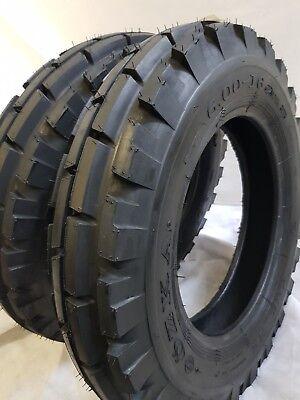 6.00x16 6.00-16 2 Tires 2 Tubes 6 Ply Roadcrew Knk-33 4-rib Farm Tractor