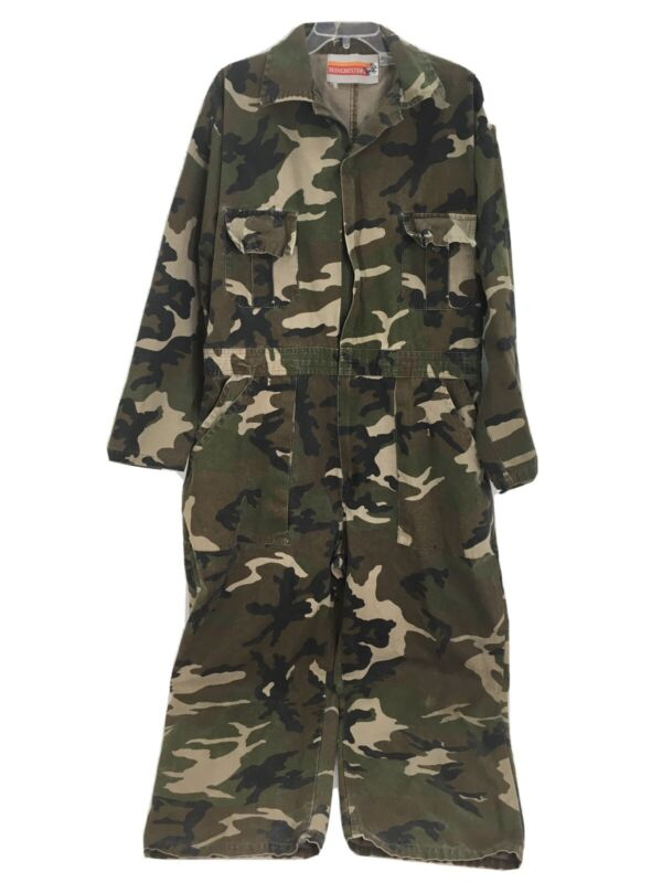 Winchester Camouflage Coveralls Mens Large L Hunting Overalls