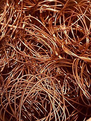 12 Lb Copper Scrap Wire Bare Bright 1 Metal Material Craft Art Recovery Cast