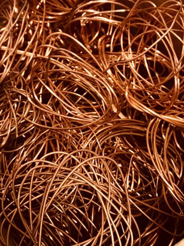 1/2 LB Copper Scrap Wire Bare Bright #1 Metal Material Craft Art Recovery Cast