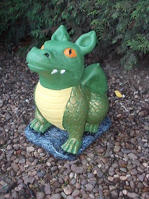 Painted Dragon garden ornament