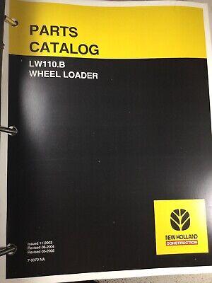 New Holland Lw110.b Wheel Loader Parts Catalog Manual