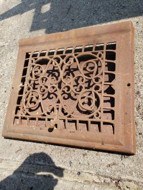 15 X 13 Large Grate Antique Castiron floor grate