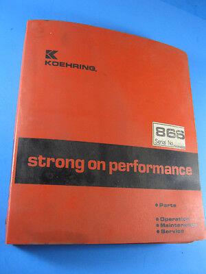 Koehring Bantam 866 Excavator Parts Operators Maintenance Service Manual