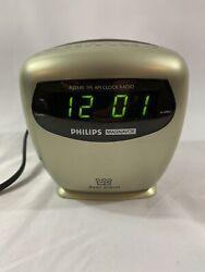 Philips Digital Alarm Clock FM Radio AJ3141/17 Tested Working