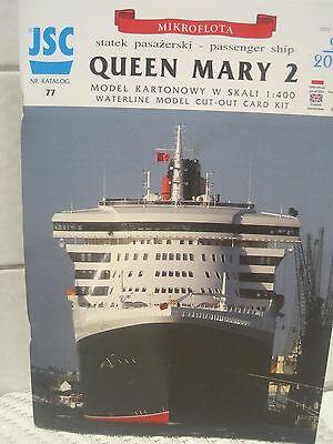 Queen Mary 2 Kartonbausatz *NEU* Bastelbogen Kartonmodell