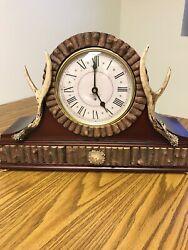 Big Sky Carvers Antler Mantle Clock Cabin Decor