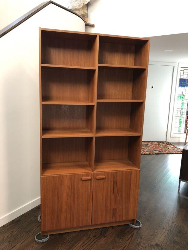 Mid Century Danish Modern Teak Bookcase Made In Denmark
