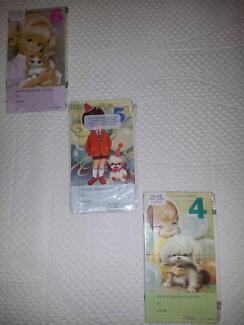 VINTAGE/COLLECTABLE B/NEW AGED JIGSAW BIRTHDAY CARDS by NORCROSS.