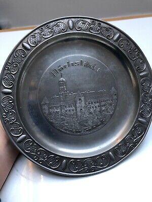 Hochstadt Donau Schlob Rein Zinn German Pewter Plate