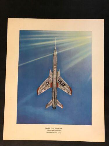 """Republic F-105     16"""" x 20"""" Print"""