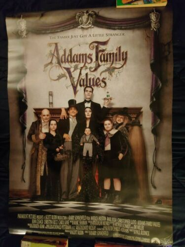 """ADDAMS FAMILY VALUES 1993 Original DS 2 Sided 27x40"""" US Movie Poster"""