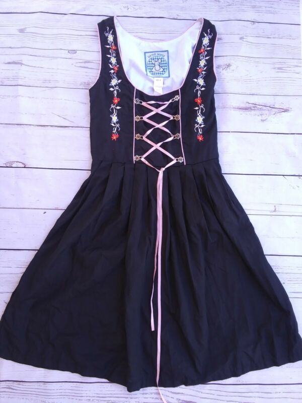 Dirndl World Size 4 Black Dress