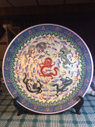 A  big vintage Chinese Porcelain Charger