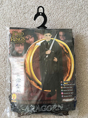 Lord of the Rings Two Towers ARAGORN COSTUME size 8-10 Med Age 5-7, cloak tunic](Aragorn Cloak)