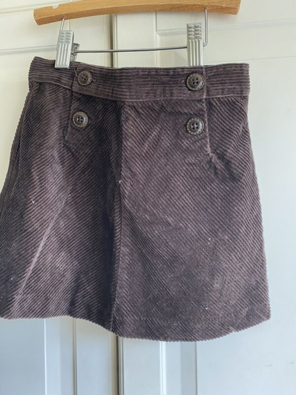 Janie and Jack Girl's Size 5T Brown Corduroy Straight Skirt
