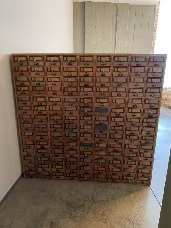 Rare 252 Drawer Card Catalog From Yale University