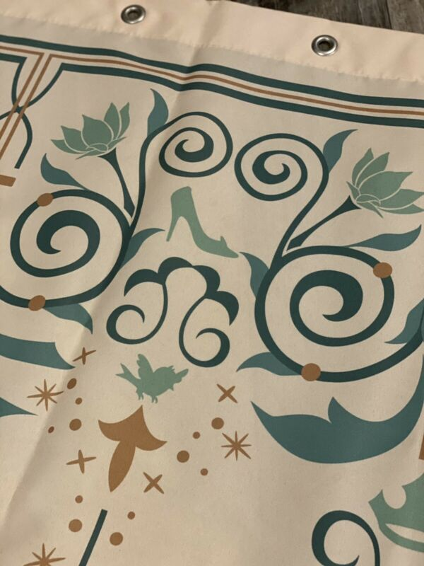 Disney Resort Royal Room Shower Curtain Prop New!