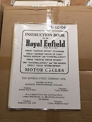 Royal Enfield Instruction Book Various Models (See Description) 184 (3-54)