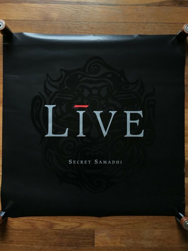 Live Secret Samadhi RARE original promo double sided poster 1997