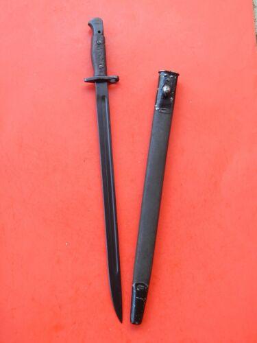 NICE ENFIELD 1907- Mk111 SWORD BAYONET /SCABBARD  ---  1916