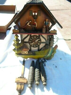 Vintage Cuckoo Clock for Parts or Repair E Schmeckenbecher