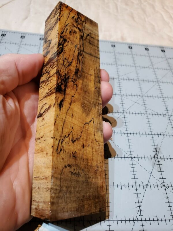 """Stabilized Spalted Tamarind Knife Handle Scale Blank Block, 6 X 1.625 X 1"""""""