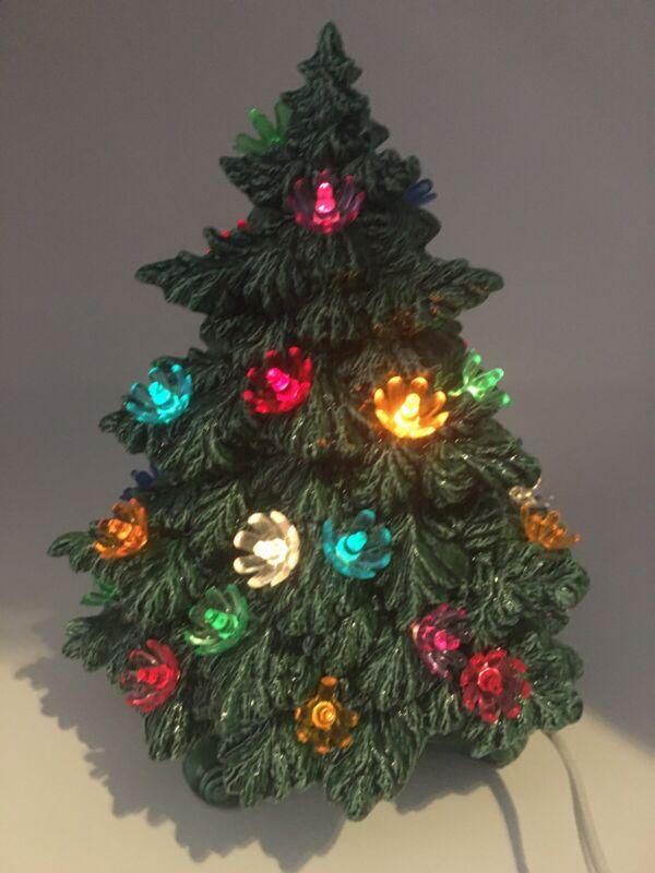 "1994 Nowell's Mold Ceramic Christmas Tree 9"" Vintage"