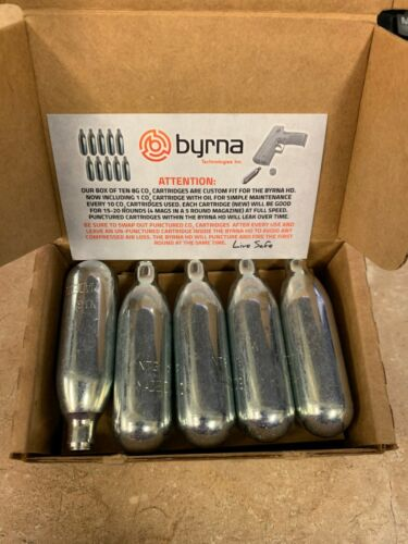 BYRNA 8 GRAM GAS CARTRIDGE 10 PACK FOR BYRNA SELF DEFENSE LAUNCHERS